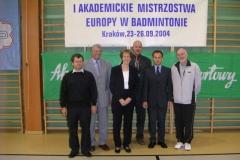 I Akademickie Mistrzostwa Europy w Badmintonie - 23.09 - 26.09 2004